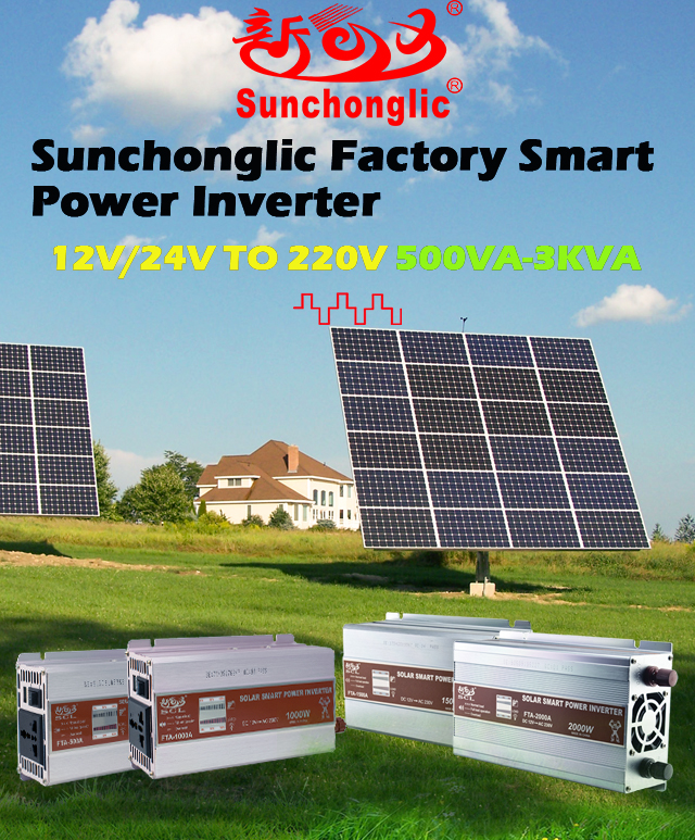 Smart solar power inverter 500VA to 3000VA